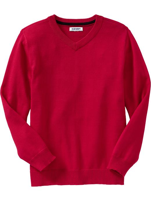Old Navy Boys V Neck Sweaters - Red tape