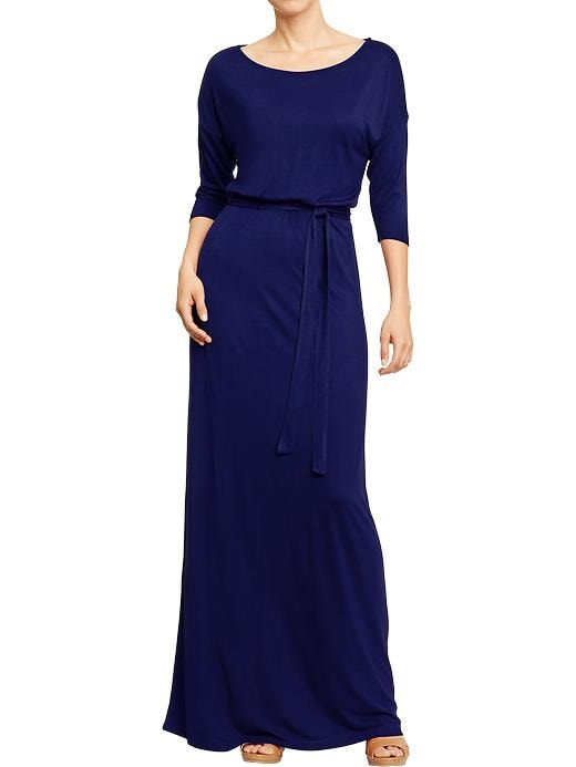 Old Navy Women's Belted Jersey Maxi Dresses - Bright nite 335