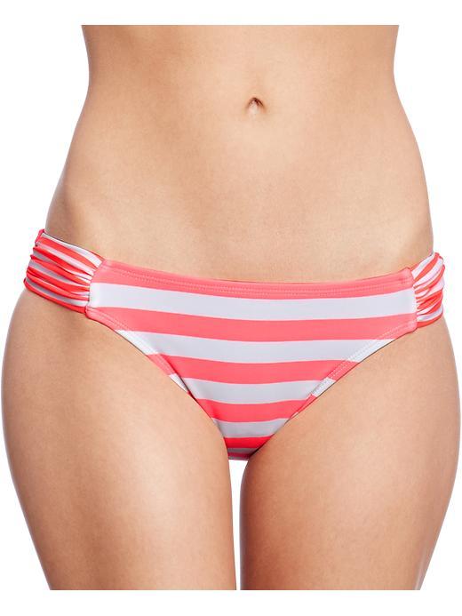 Old Navy Women's Mixed Stripe Bandeau Bikinis - Orange bottom - Old Navy Canada