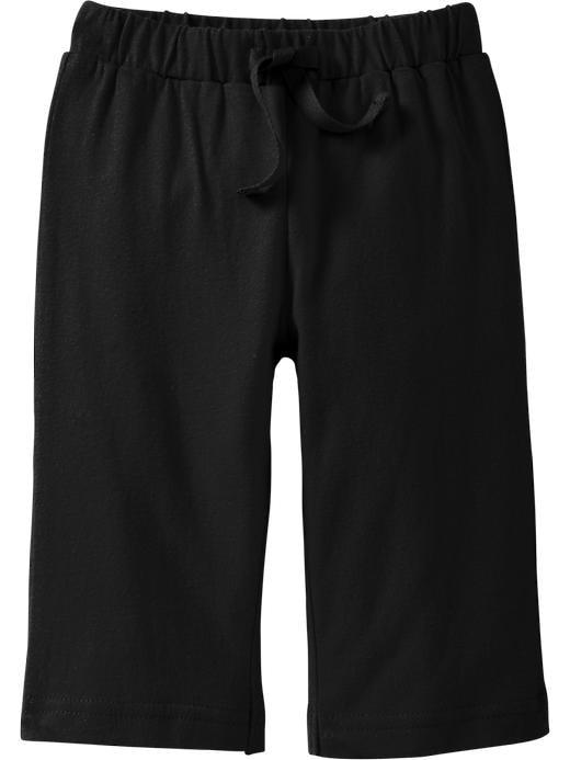 Old Navy Drawstring Jersey Pants For Baby - Black jack