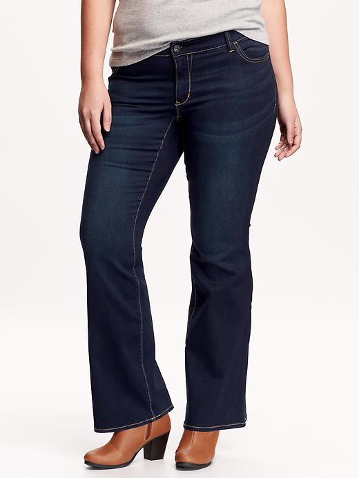Old Navy Women's Plus The Rockstar Boot Cut Jeans - Dark wash - Old Navy Canada