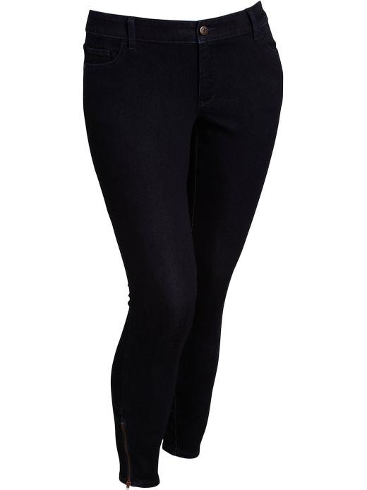 Old Navy Women's Plus The Rockstar Zip Ankle Skinny Jeans - Rinse - Old Navy Canada