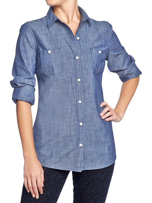 Old Navy Women's Classic Chambray Shirts - Dark chambray - Old Navy Canada