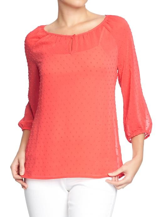 Old Navy Women's Swiss Dot Chiffon Tops - Coral integrity - Old Navy Canada
