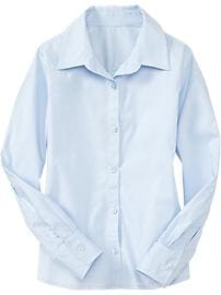Long-Sleeve Uniform Shirt for Girls