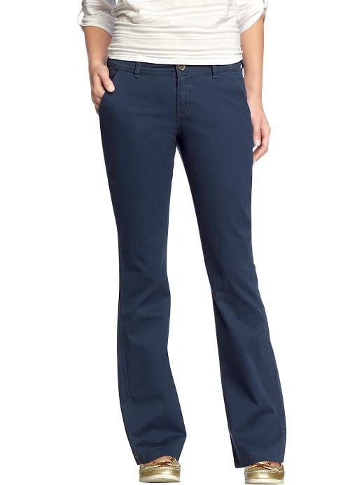 Old Navy Women's The Sweetheart Everyday Boot Cut Khakis - Classic navy - Old Navy Canada