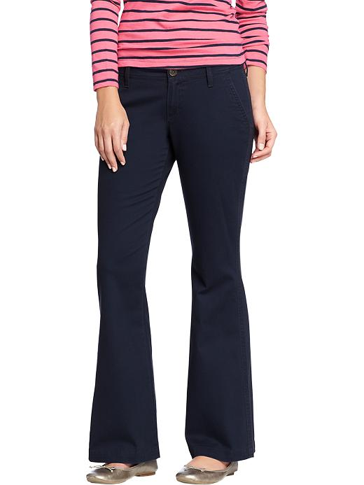 Old Navy Women's The Diva Super Flare Khakis - Classic navy