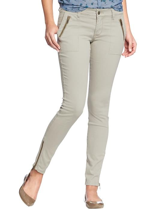 Old Navy Women's The Rockstar Zip Pocket Pants - Lodge khaki