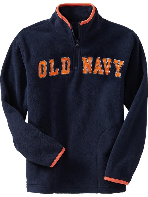 Old Navy Boys Performance Fleece Logo Pullovers - Ink blue