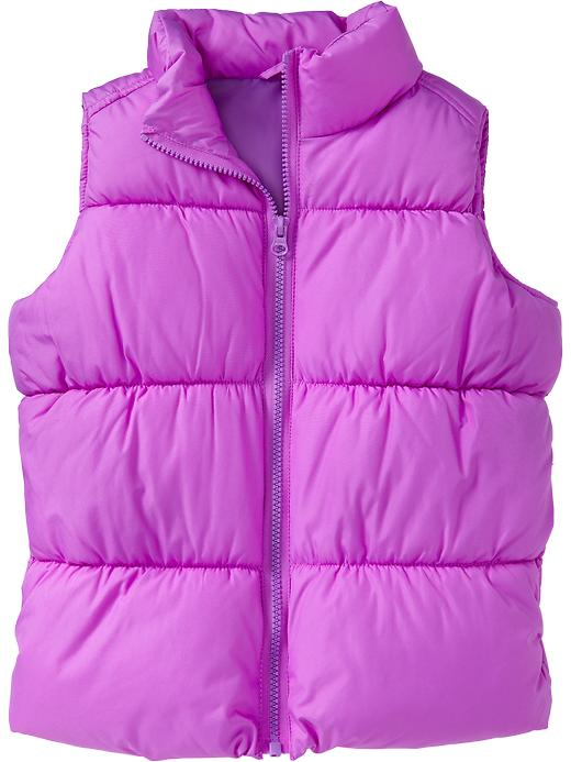 Old Navy Girls Frost Free Quilted Vests - Purple lightng neo ctn - Old Navy Canada