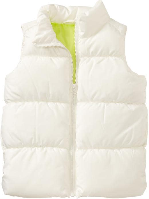 Old Navy Girls Frost Free Quilted Vests - Marshmallow white - Old Navy Canada