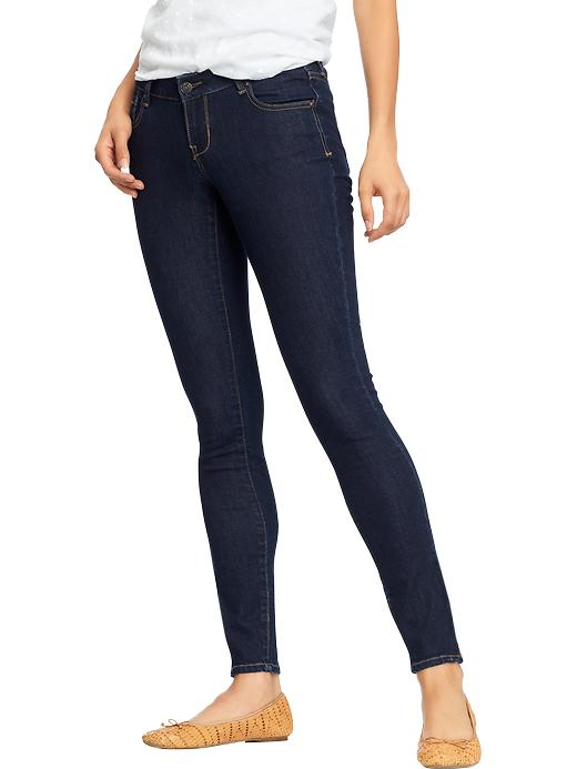 Old Navy Women's The Rockstar Zip Ankle Skinny Jeans - Rinse