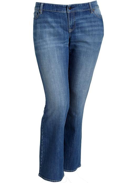 Old Navy Women's Plus Boot Cut Jeans - Medium wash