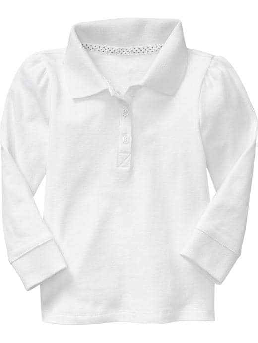 Old Navy Uniform Pique Polos For Baby - Bright white