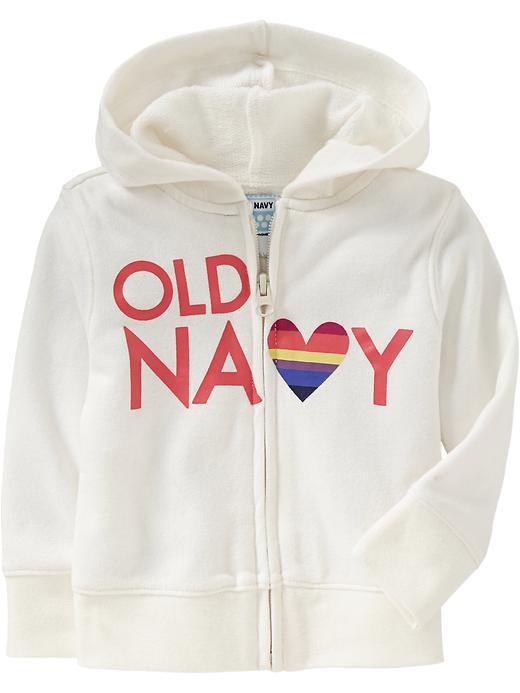 Old Navy Logo Terry Zip Hoodies For Baby - Sea salt