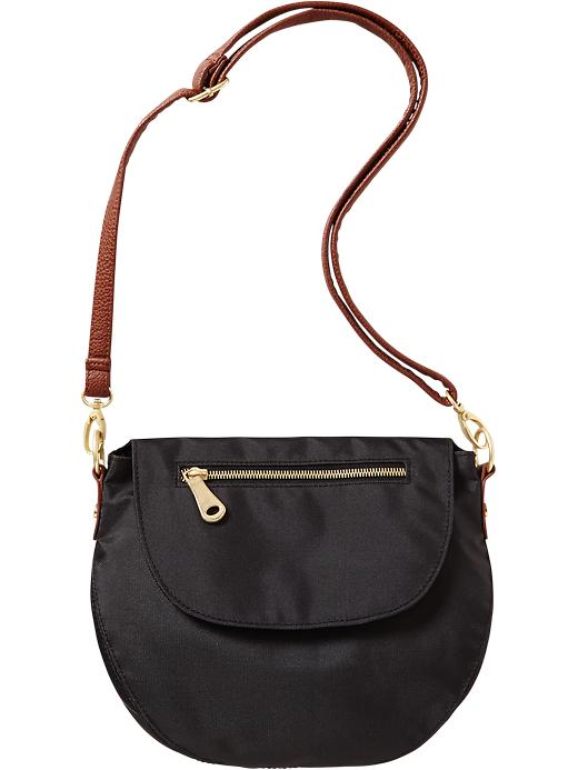 Old Navy Women's Canvas Zip Flap Crossbodies - Black - Old Navy Canada