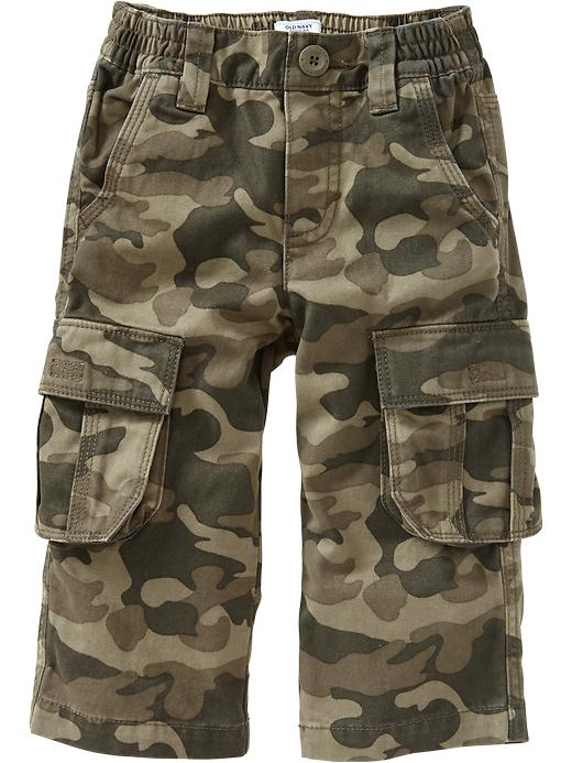 Old Navy Twill Pull On Cargos For Baby - Green camo
