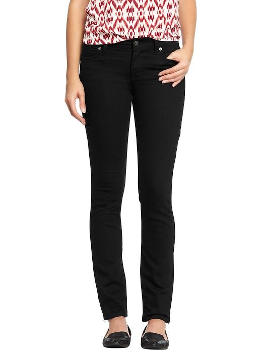 Old Navy Women's The Flirt Black Skinny Jeans - Black jack