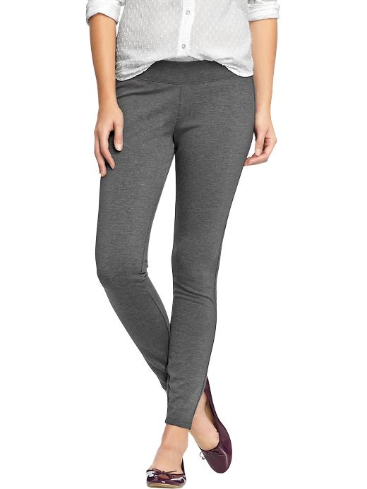 Old Navy Women's Pull On Ponte Knit Pants - Heather charcoal - Old Navy Canada