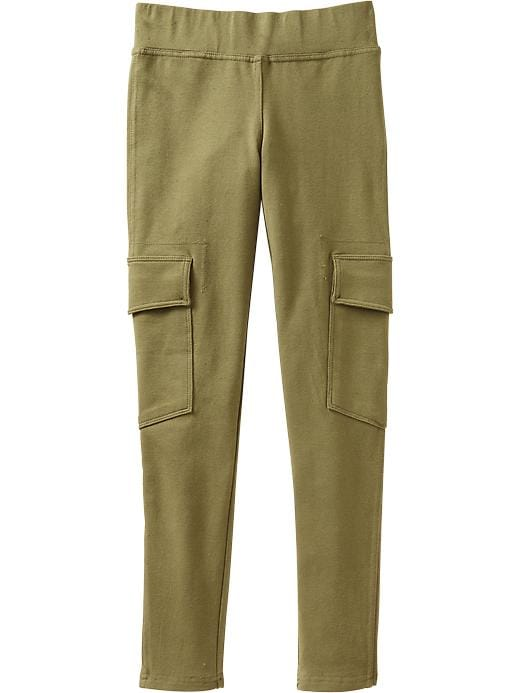 Old Navy Girls Jersey Cargo Leggings - Asparagus