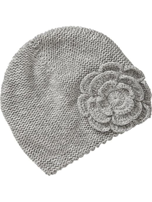 Old Navy Knitted Rosette Caps For Baby - Heather gray