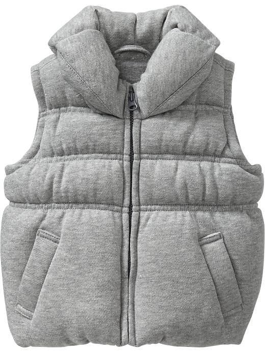 Old Navy Quilted Sparkle Vests For Baby - Heather gray