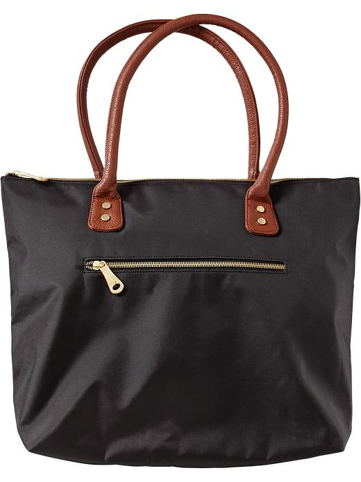 Old Navy Women's Zip Pocket Canvas Totes - Black - Old Navy Canada