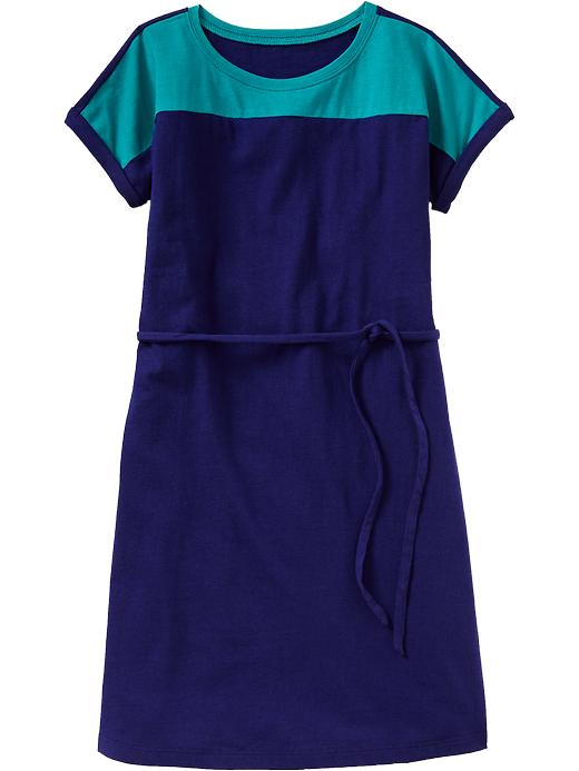 Old Navy Girls Color Blocked Jersey Dresses - Color block cool