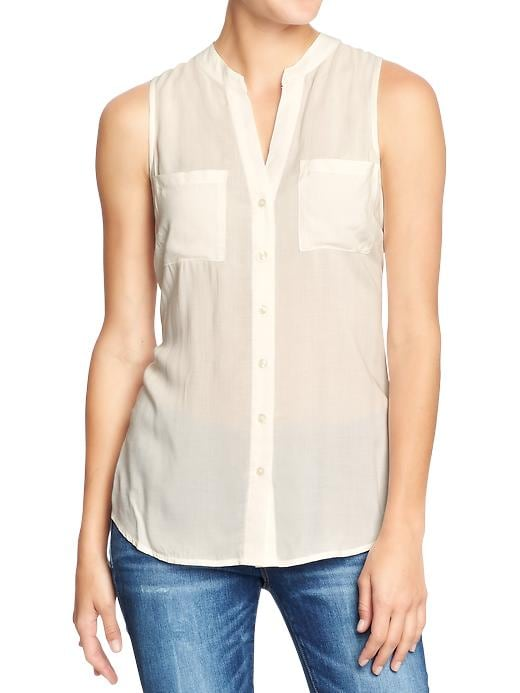 Old Navy Women's Sleeveless Crepe Tunics - Sea salt - Old Navy Canada