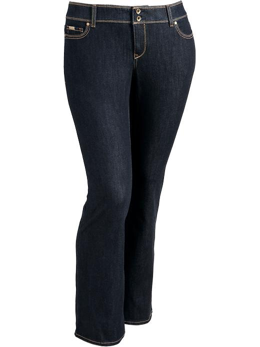 Old Navy Women's Plus Premium Bootcut Jeans - Dark wash - Old Navy Canada