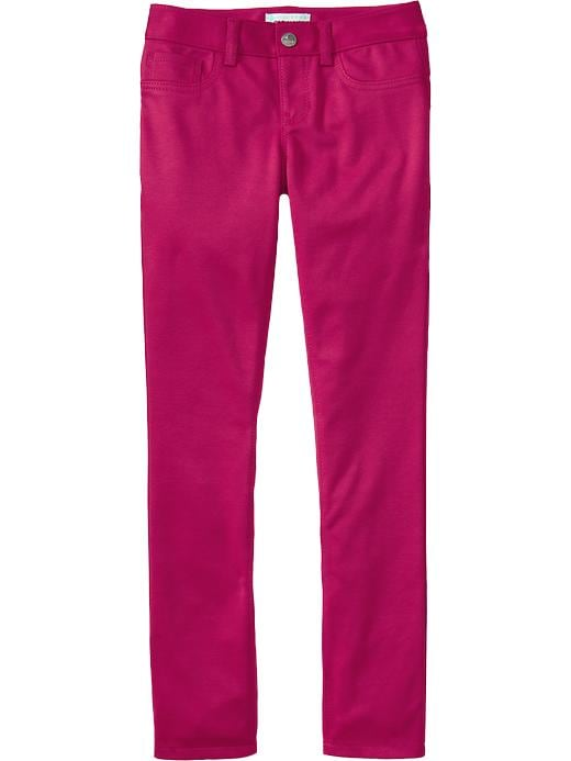 Old Navy Girls Ponte Knit Super Skinny Pants - Fuchsia islands