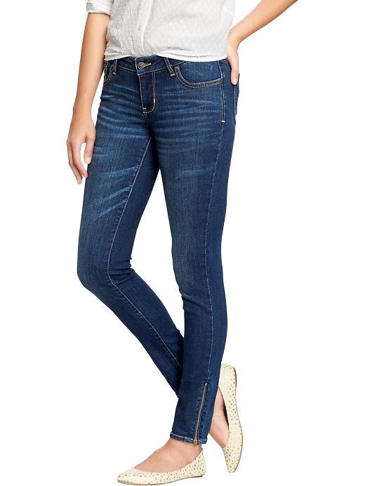 Old Navy Women's The Rockstar Ankle Zip Jeans - Blue ridge - Old Navy Canada