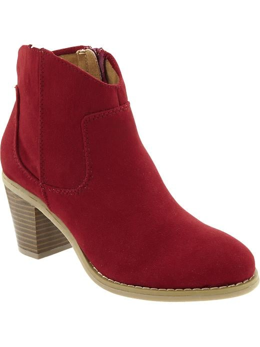 Old Navy Women's Sueded Short Zip Boots - Wine country - Old Navy Canada