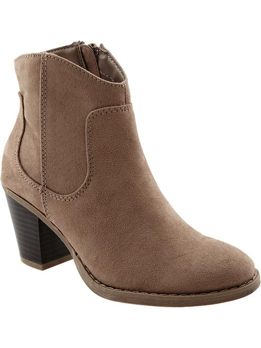 Old Navy Women's Sueded Short Zip Boots - Mouse house - Old Navy Canada