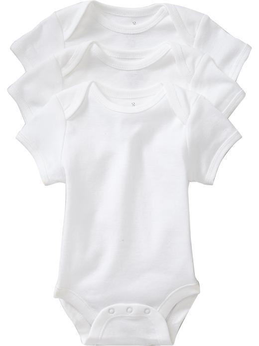 Old Navy Jersey Bodysuit 3 Packs For Baby - White
