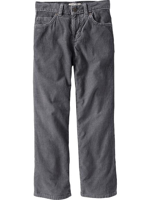 Old Navy Boys Straight Leg Cords - Volcanic ash