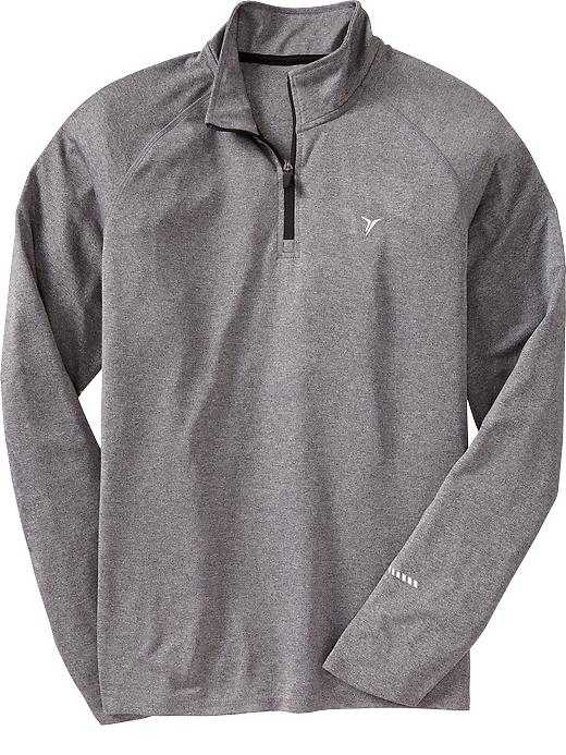 Men's Active By Old Navy Mock Neck Running Tops - Heather new gray - Old Navy Canada
