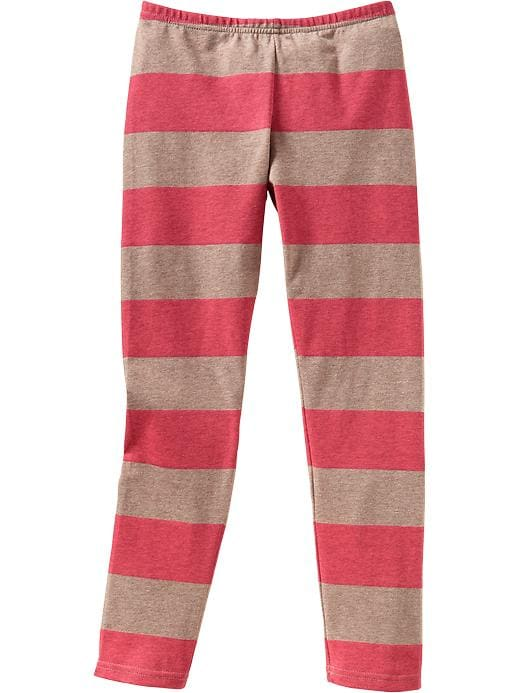 Old Navy Girls Printed Jersey Leggings - Rugby red