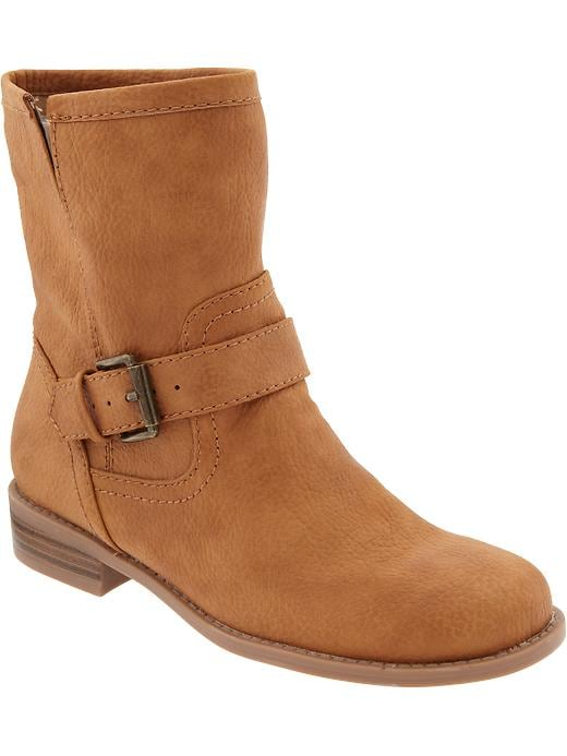 Old Navy Women's Faux Leather Ankle Boots - Tan - Old Navy Canada