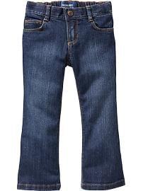 Jeans à jambe semi-évasée pour toute-petite fille