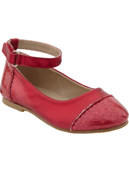 Old Navy Glitter Cap Toe Flats For Baby - Red glitter - Old Navy Canada