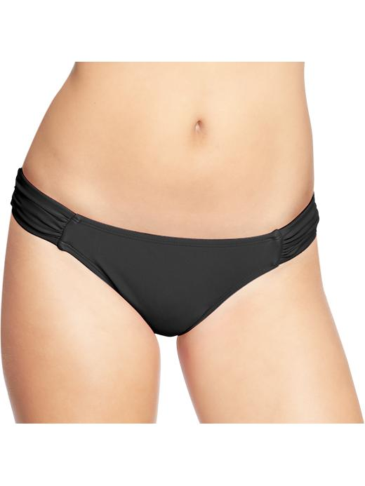 Old Navy Women's Ruched Bikini Bottoms - Black jack - Old Navy Canada