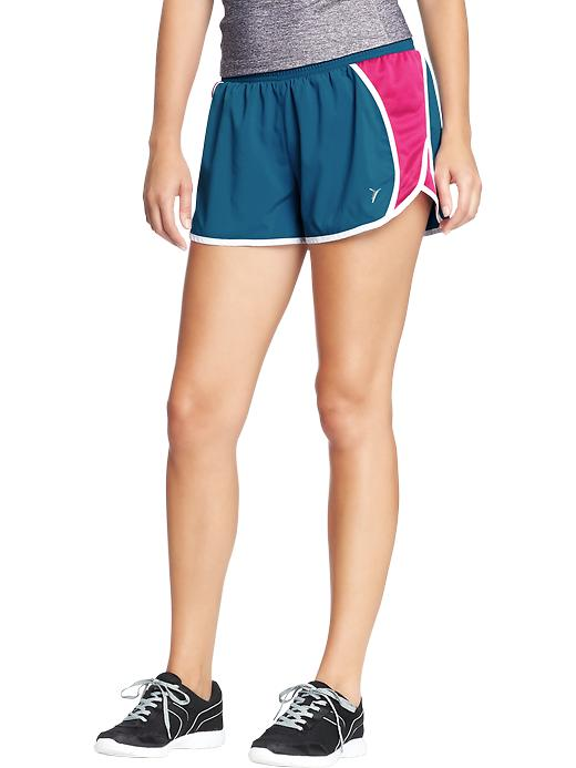 "Women's Active By Old Navy Side Mesh Running Shorts (3"") - Night swimming poly - Old Navy Canada"