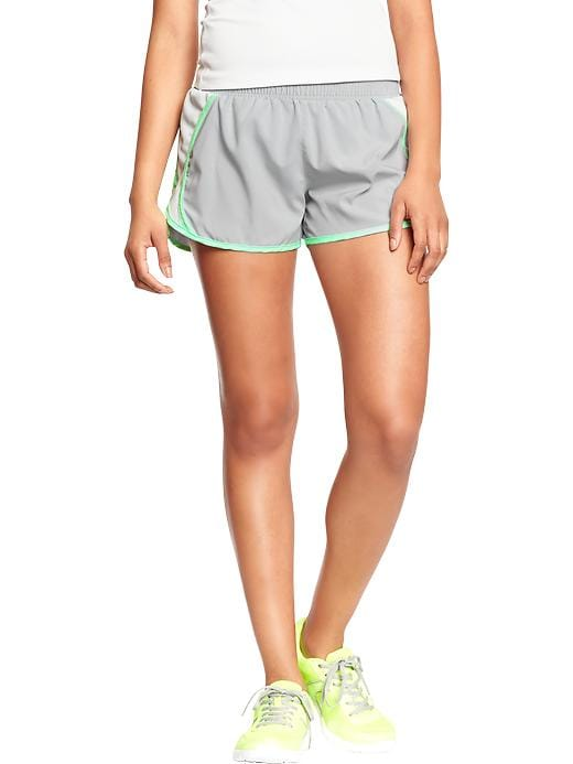 "Women's Active By Old Navy Side Mesh Running Shorts (3"") - Light grey stone - Old Navy Canada"