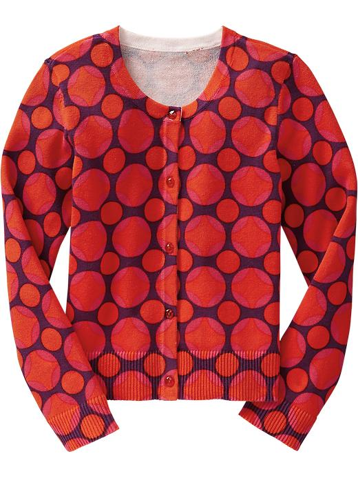 Old Navy Girls Printed Cardis - Darling clementine