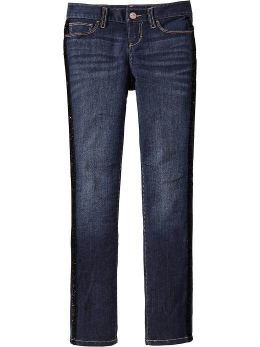 Old Navy Girls Tuxedo Stripe Super Skinny Jeans - Dark wash