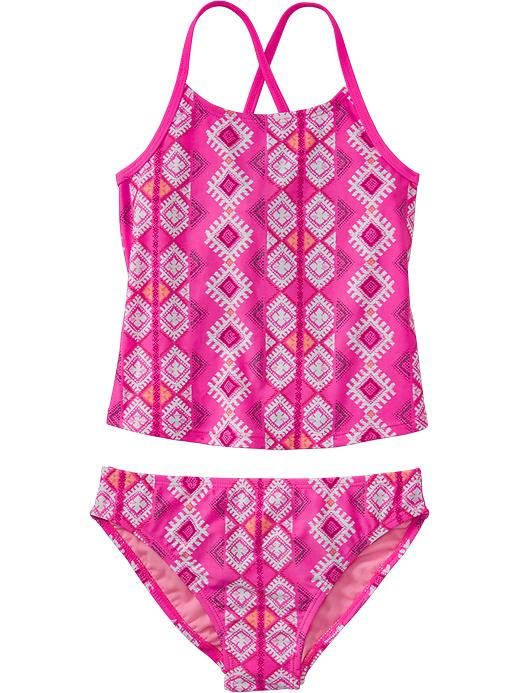Old Navy Girls Printed Tankinis - Laserbeam pink - Old Navy Canada