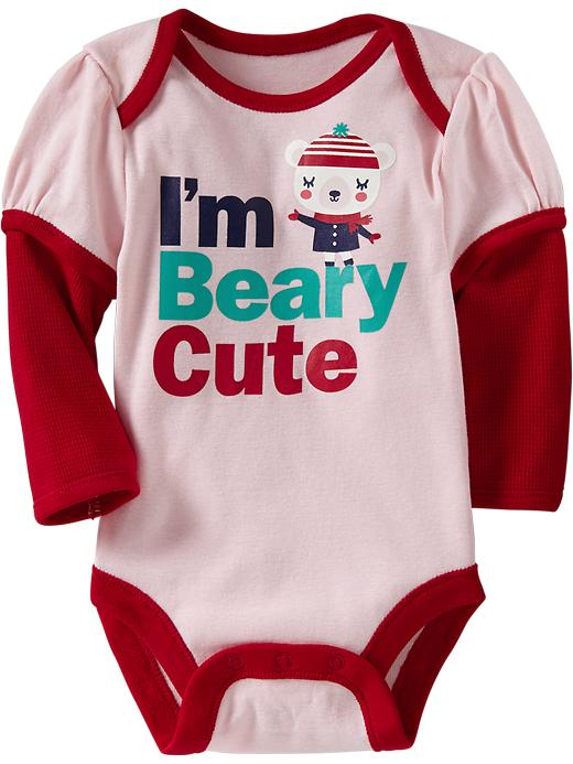 Old Navy Graphic 2 In 1 Bodysuits For Baby - Pink pirouette