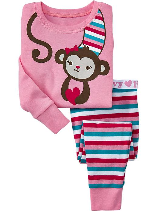 Old Navy Monkey Love Pj Sets For Baby - Pretty in pink - Old Navy Canada
