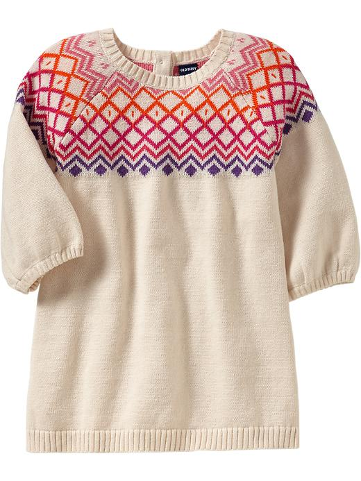 Old Navy Fair Isle Sweater Dresses For Baby - Caboodle noodle